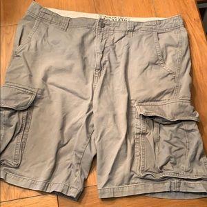 Gray cargo shorts size 38